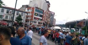 Trabzonsporlu taraftarlar biletlere akın etti