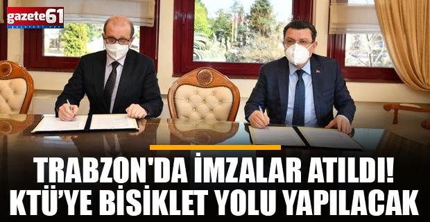 Trabzon'da imzalar atıldı! KTÜ kampüsüne bisiklet yolu yapılacak