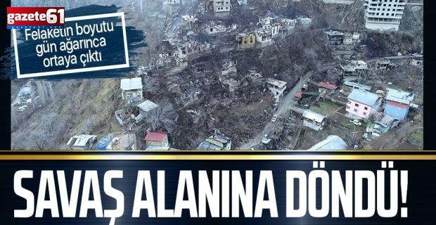 Artvin'deki yangın felaketinin boyutu gün ağarınca ortaya çıktı