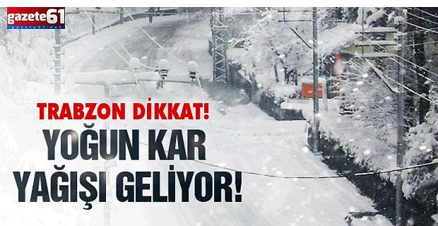 Kar geliyor...