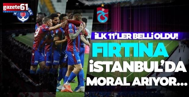 Kasımpaşa - Trabzonspormaçında ilk 11'ler belli oldu!