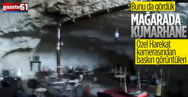 Mağaraya baskın yapan polis kumarhaneyle karşılaştı