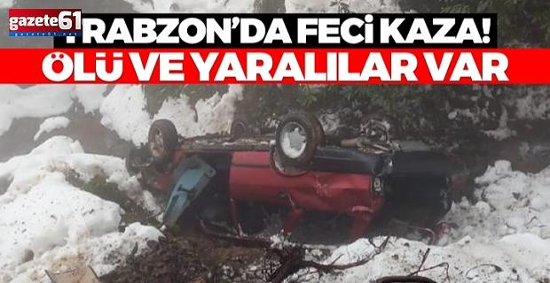 Trabzon'da çok faci kaza! Dereye uçtular! Ölü ve yaralılar var