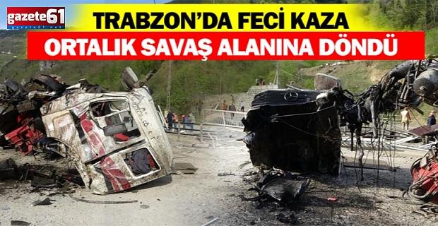 Trabzon'da Feci Kaza! Ortalık savaş alanına döndü!