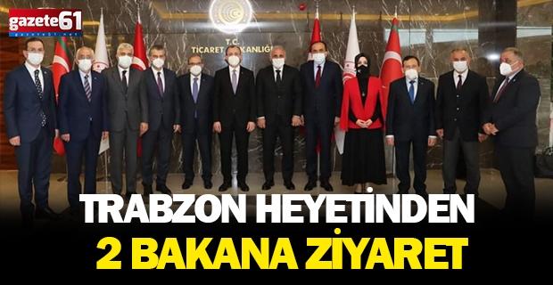 Trabzon heyetinrden iki bakana ziyaret