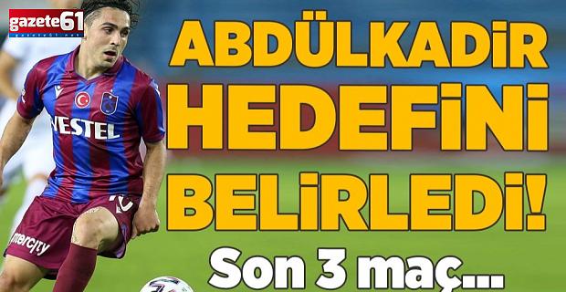 Abdülkadir Ömür'lük 3 maç