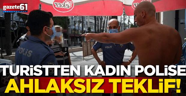 Kadın polise ahlaksız teklif! Gözaltına alındı