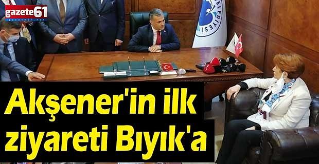 Akşener, Yomra Belediyesini ziyaret etti