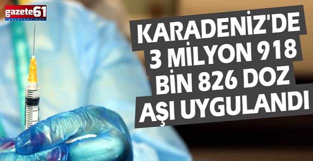 Karadeniz'de 3 milyon 918 bin 826 doz aşı uygulandı