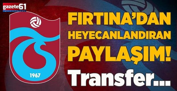 Trabzonspor'dan heyecanlandıran paylaşım!