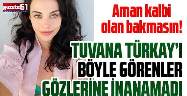 Tuvana Türkay mavi bikinisi yürekleri ağza getirdi!