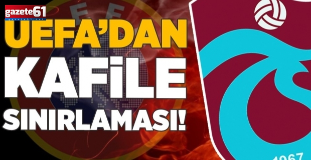 UEFA'dan Trabzonspor'a kısıtlama! Molde maçında...