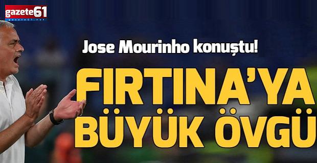 Jose Mourinho'dan Trabzonspor'a büyük övgü!