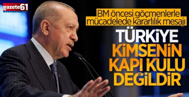 Cumhurbaşkanı Erdoğan'dan ABD ziyareti öncesi açıklama