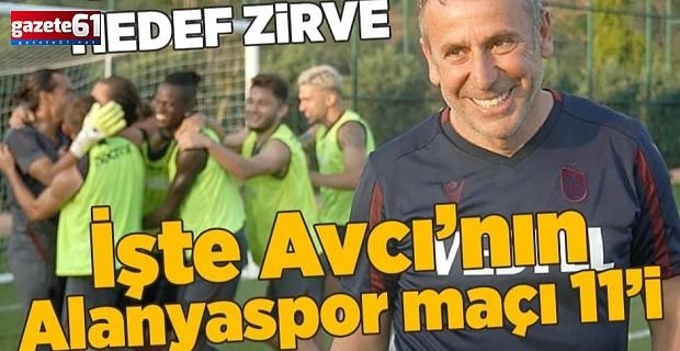 İşte Trabzonspor Alanyaspor maçında muhtemel 11'ler