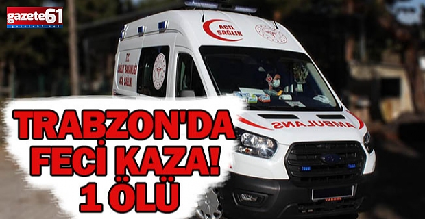 Trabzon'da feci kaza! 2 yaşındaki çocuk hayatını kaybetti