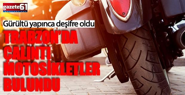 Trabzon'da çalınan 3 motosiklet ele geçirildi