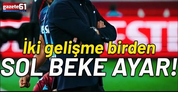 Trabzonspor'da Abdullah Avcı'dan sol beke ayar!