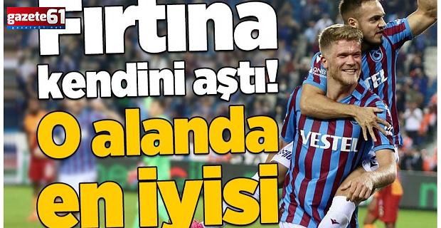 Trabzonspor kendini aştı! O alanda en iyisi