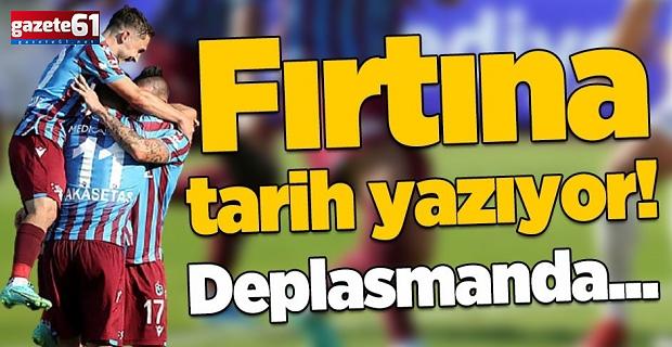 Trabzonspor tarih yazıyor! Deplasmanda...