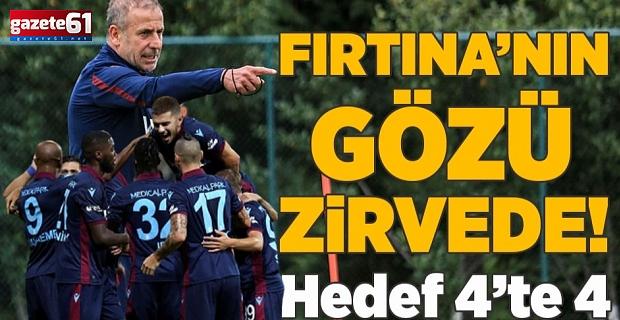 Trabzonspor'un gözü zirvede! Hedef 4'te 4