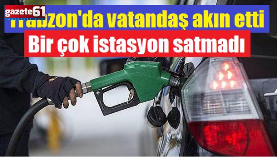 Trabzon'da vatandaşlar akın etti... Bir çok istasyonsatmadı