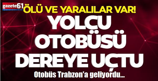 Yolcu otobüsü kaza yaptı!Trabzon'a geliyordu...