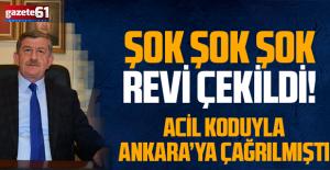 AK PARTİ'DE ŞOK.. BAŞKAN REVİ ÇEKİLDİ...