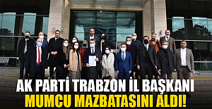 AK Parti Trabzon İl BaşkanıMazbatasını Aldı!