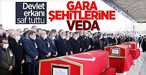Gara şehitleri için cenaze töreni düzenlendi