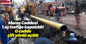 Gazipaşa Caddesi çift yönlü trafiğe açıldı