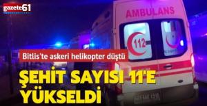 Bitlis'te askeri helikopter düştü... 11 asker şehit oldu