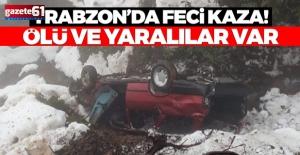 Trabzonda çok faci kaza! Dereye...