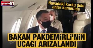 Bakan Pakdemirli'nin uçağı arızalandı