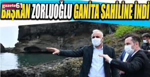 Başkan Zorluoğlu Ganita Sahiline İndi