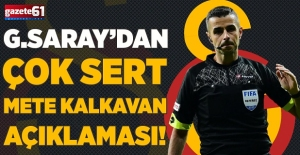 Galatasaray'dan hakame ayar!