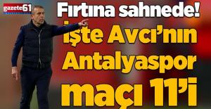 İşte Trabzonspor Antalyaspor maçında muhtemel 11'ler