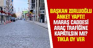 Başkan Zorluoğlu anket yaptı! Maraş...