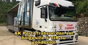 AKParti Trabzon'dan sel bölgesine 4 TIRsu gönderildi