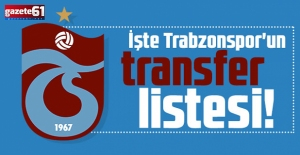 Trabzonspor'un transfer gündemindeki isimler!