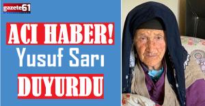 Trabzonsporlu futbolcu Yusuf Sarı'nın acı günü!