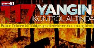 125 yangından 117'si kontrol altına alındı