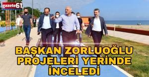 Başkan Zorluoğlu, projeleri yerinde inceledi!