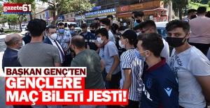 Trabzon'da taraftarlara bilet jesti!