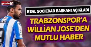 Trabzonspor'a Willian Jose'den mutlu haber