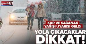 Meteorolojiden kar ve yağış uyarısı geldi