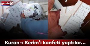 Ordu'da skandal yaşandı! Taraftarlar Kuran-ı Kerim'i konfeti yaptı...