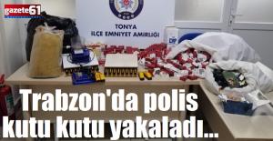 Trabzon'da polis kutu kutu yakaladı...