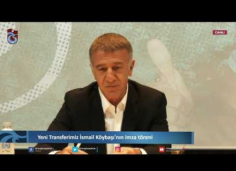 Yeni transfer İsmail Köybaşı imza töreninde...